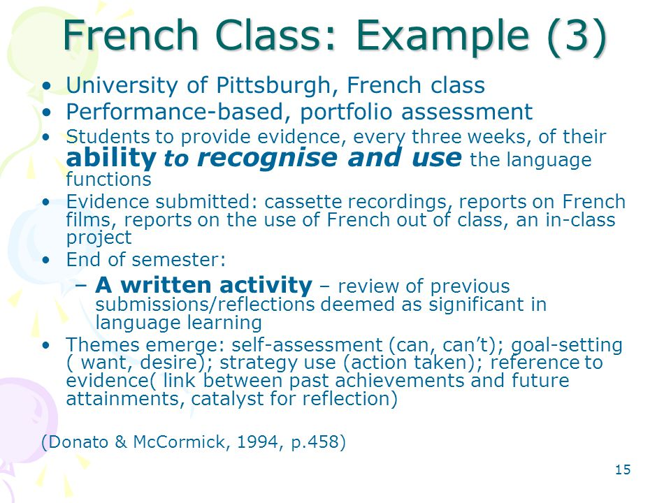 French Class: Example (3)
