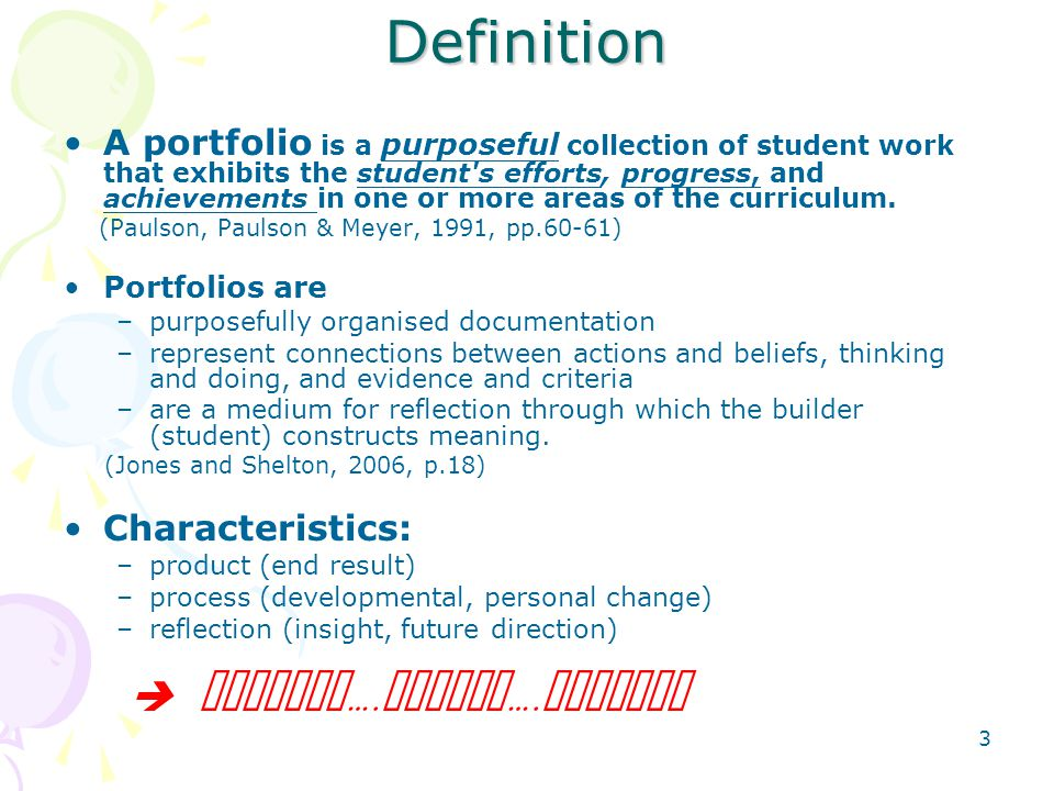 Definition  Collect….Select….Reflect