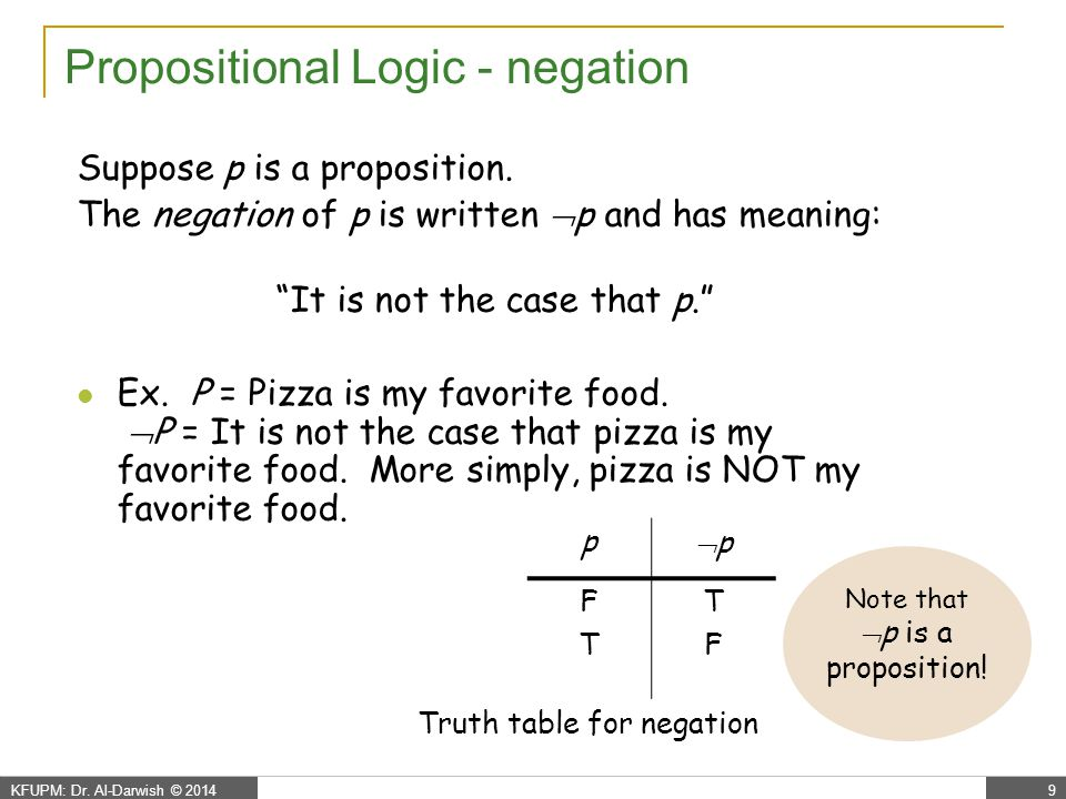 Propositional Logic - conjunction