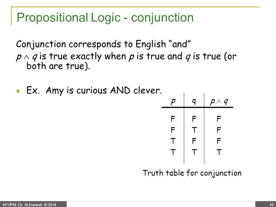 Propositional Logic - disjunction