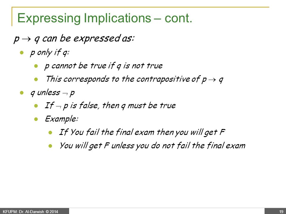 Propositional Logic - biconditional