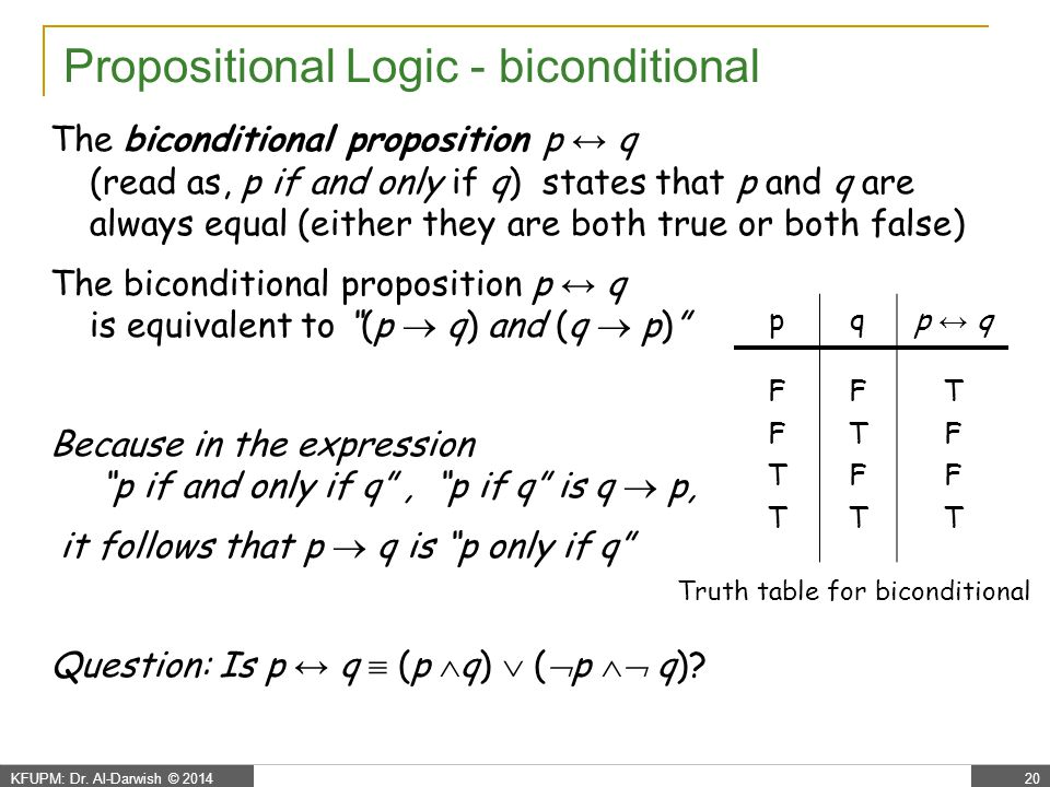Propositional Logic - some definitions