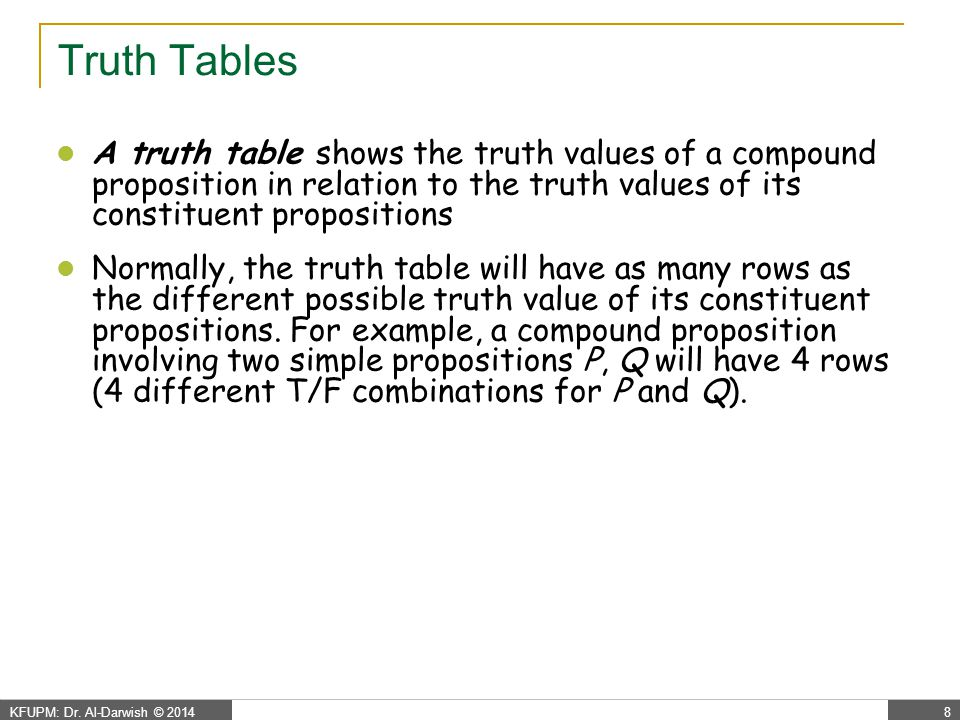 Propositional Logic - negation