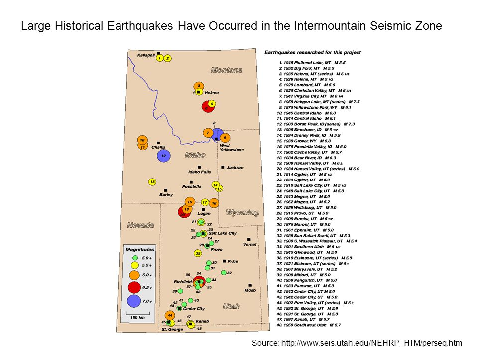 Large Historical Earthquakes Have Occurred in the Intermountain Seismic Zone