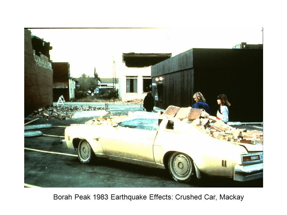 Borah Peak 1983 Earthquake Effects: Crushed Car, Mackay