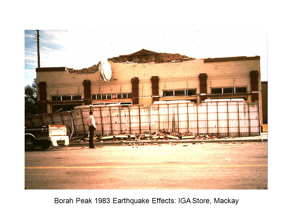 Borah Peak 1983 Earthquake Effects: IGA Store, Mackay