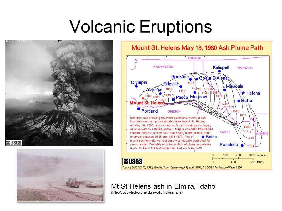 Volcanic Eruptions Mt St Helens ash in Elmira, Idaho