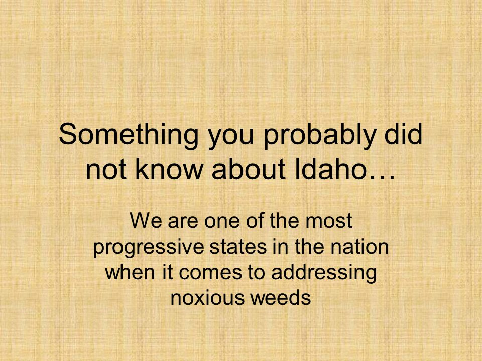 Something you probably did not know about Idaho…
