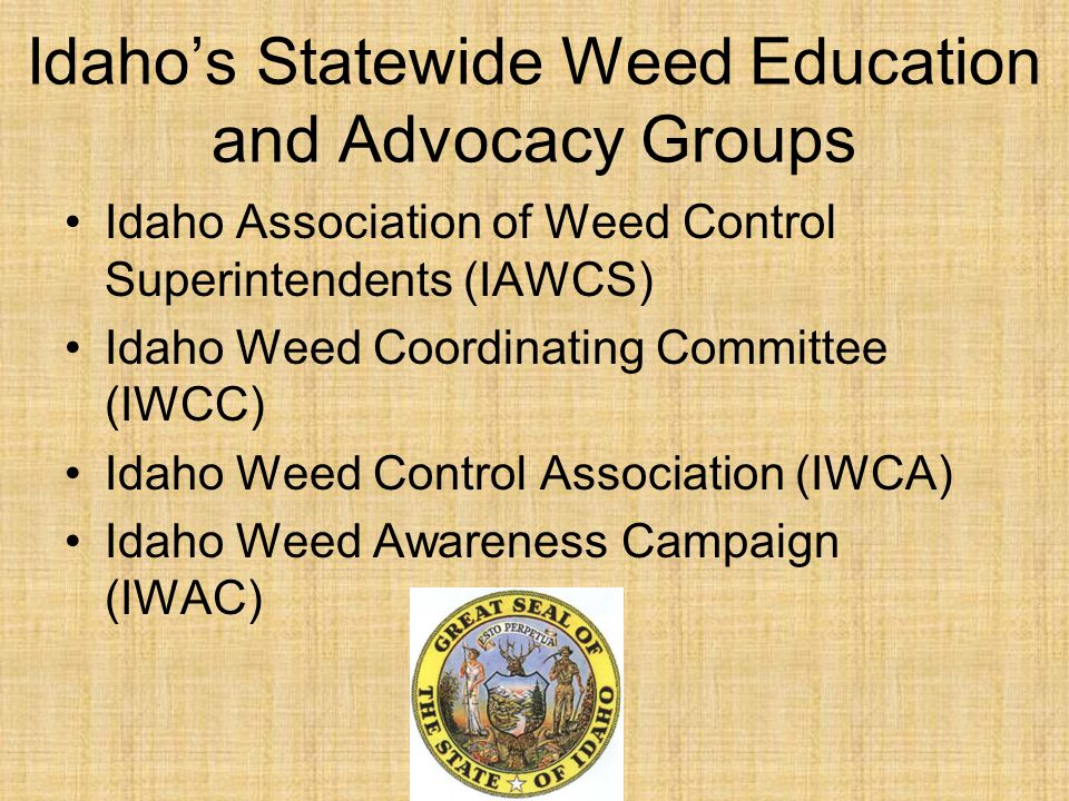 Idaho's Statewide Weed Education and Advocacy Groups