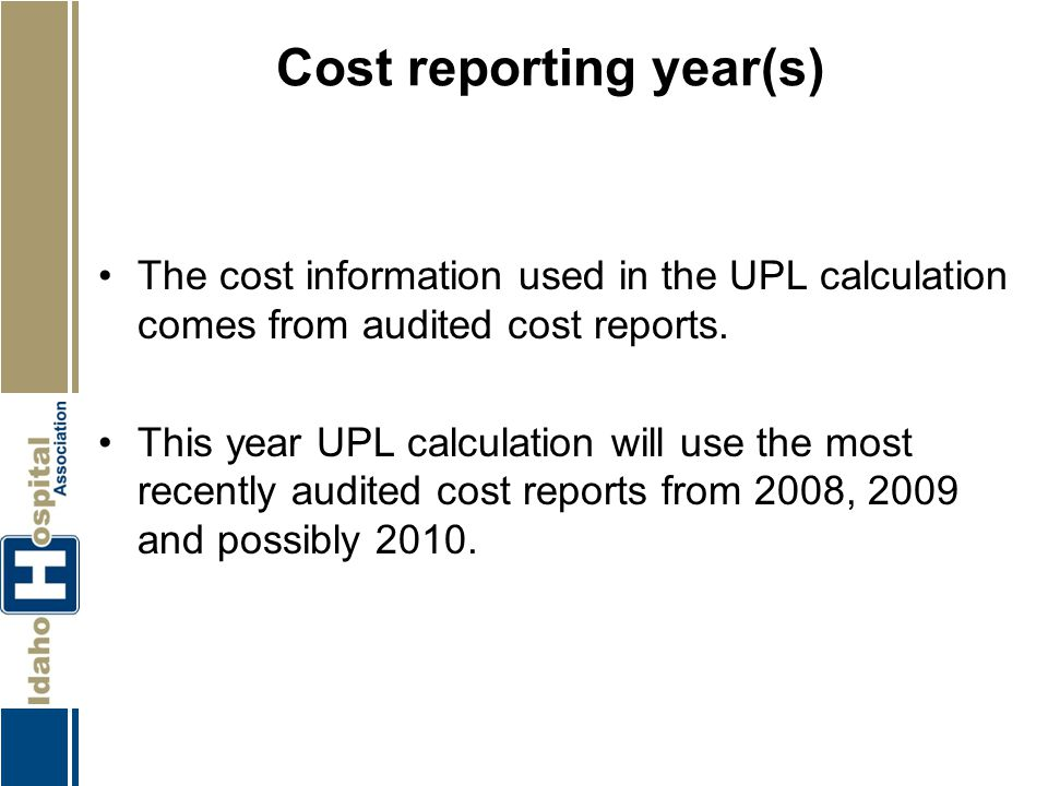 Cost reporting year(s)
