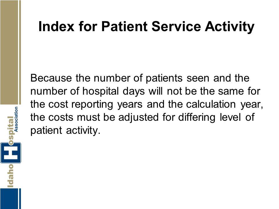 Index for Patient Service Activity