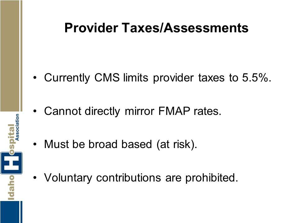 Provider Taxes/Assessments