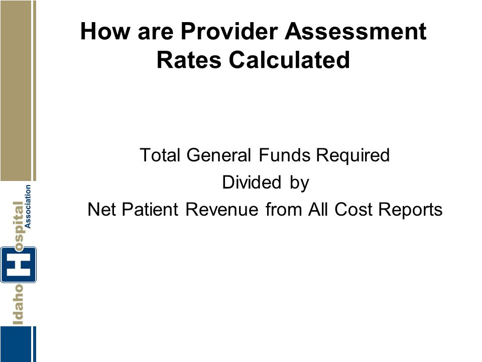 How are Provider Assessment Rates Calculated