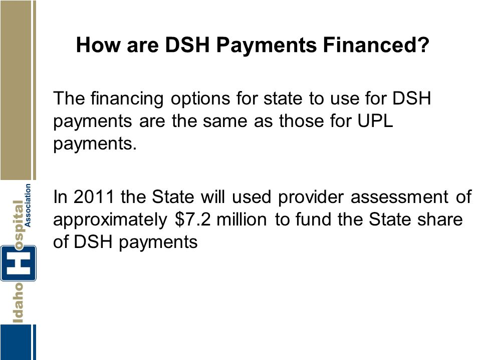 How are DSH Payments Financed