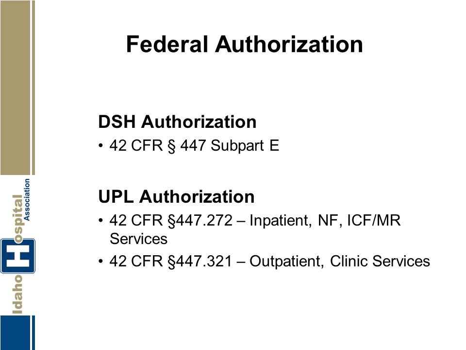 Federal Authorization