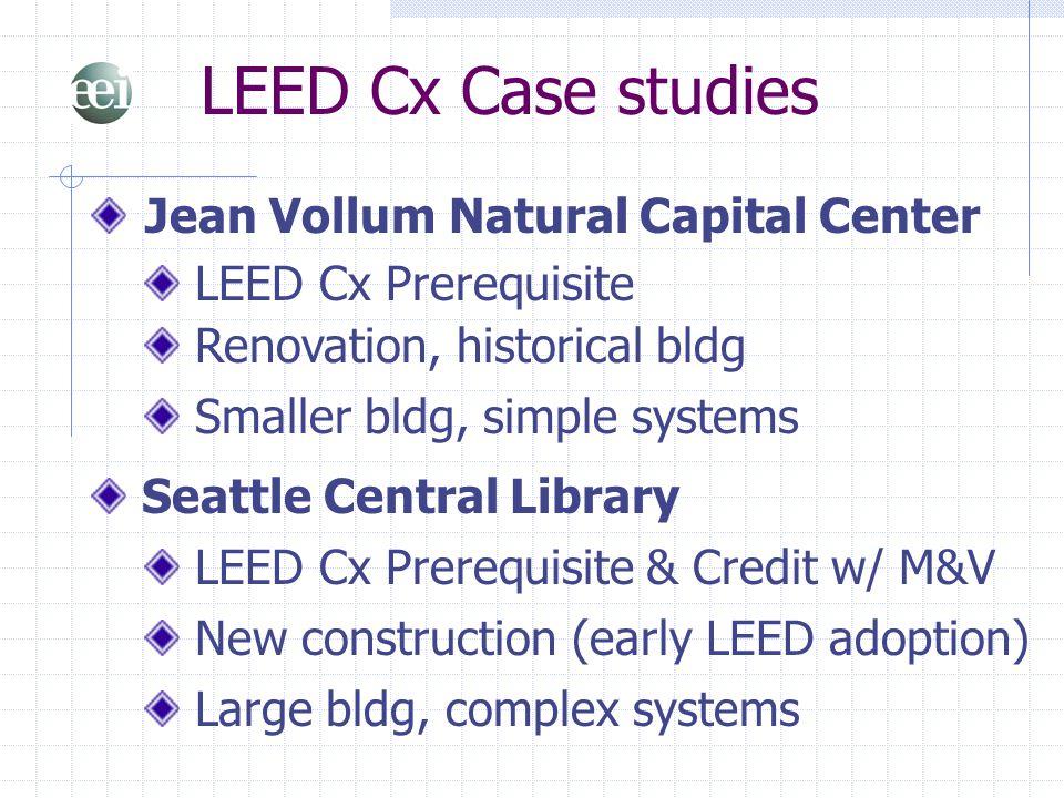 LEED Cx Case studies Jean Vollum Natural Capital Center