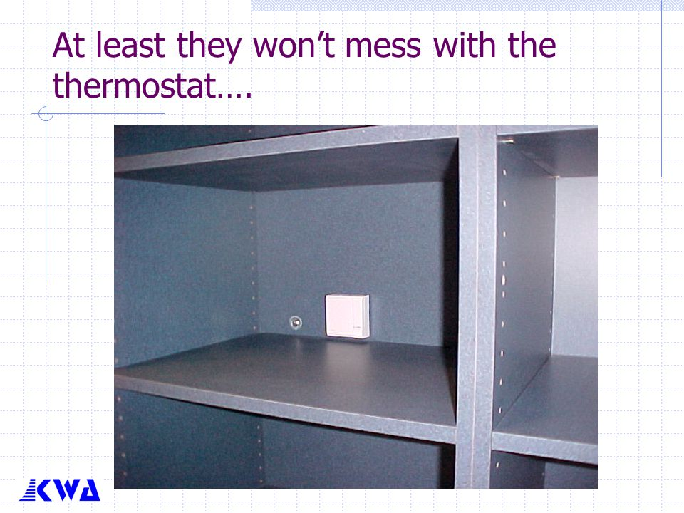 At least they won't mess with the thermostat….