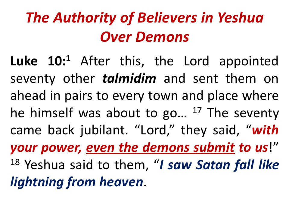 The Authority of Believers in Yeshua Over Demons