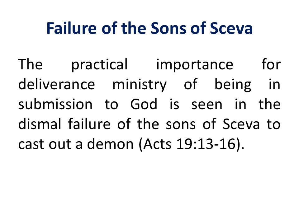 Failure of the Sons of Sceva