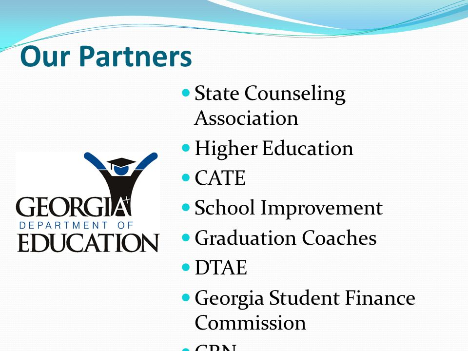 Our Partners State Counseling Association Higher Education CATE