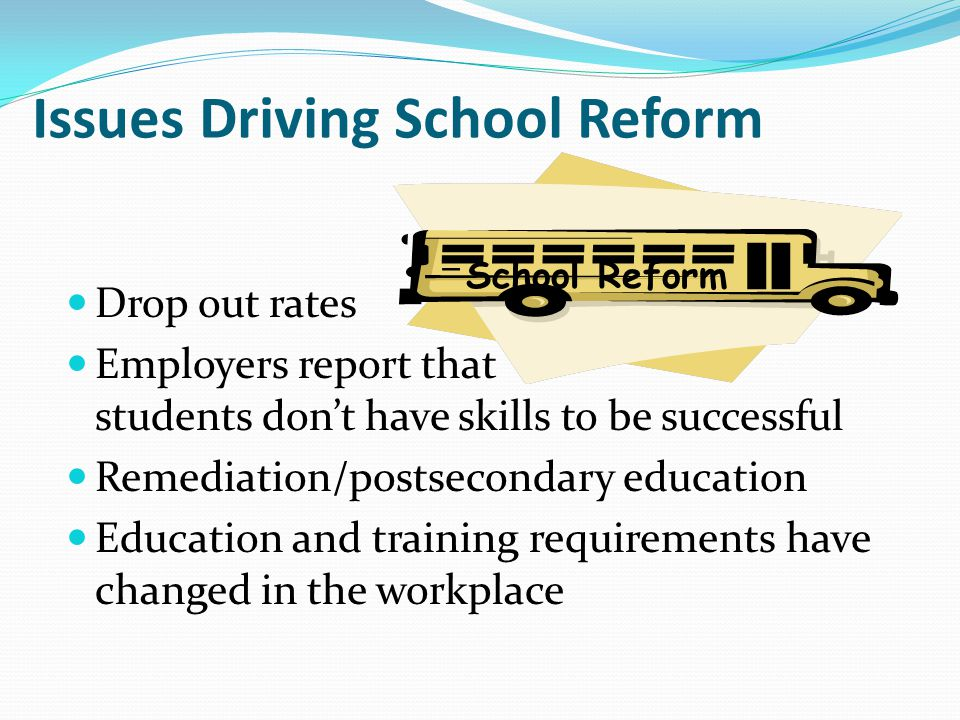 Issues Driving School Reform