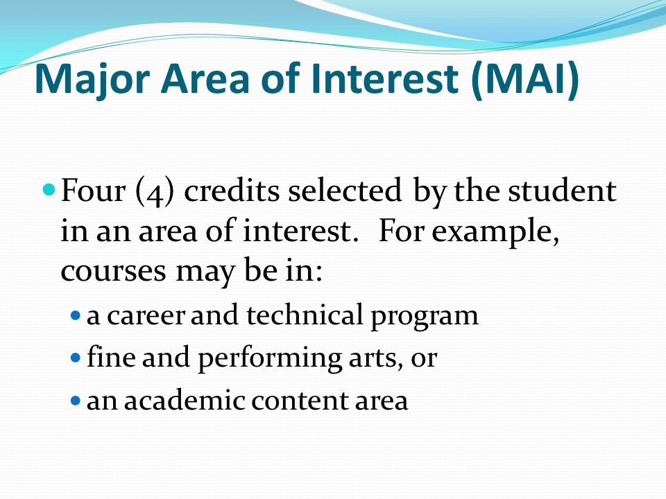 Major Area of Interest (MAI)