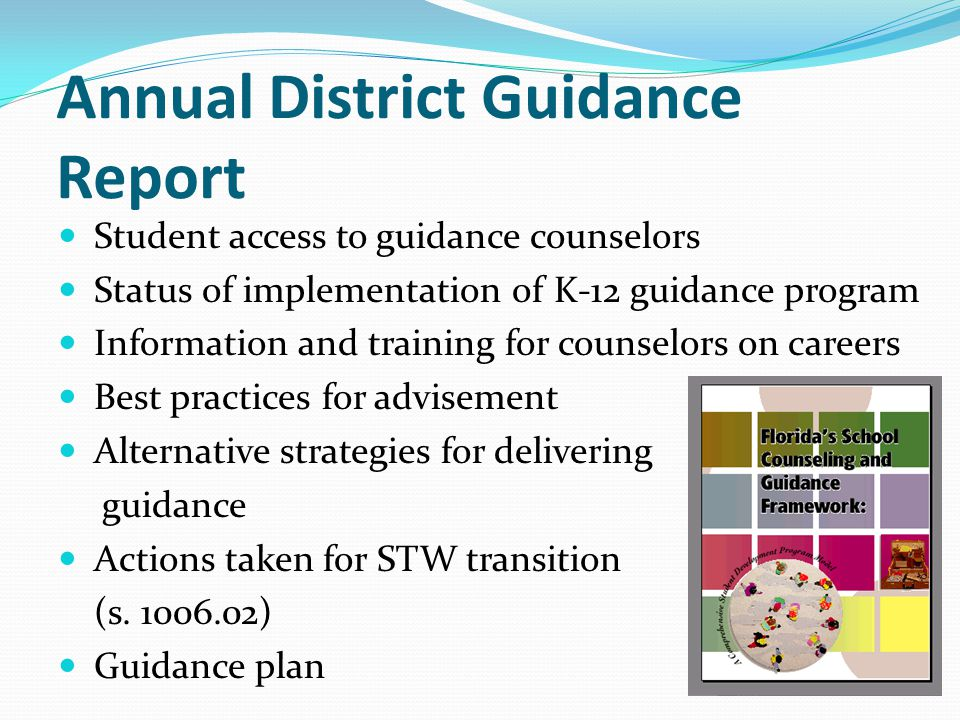 Annual District Guidance Report