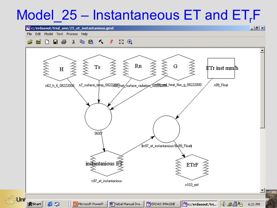 Model_25 – Instantaneous ET and ETrF