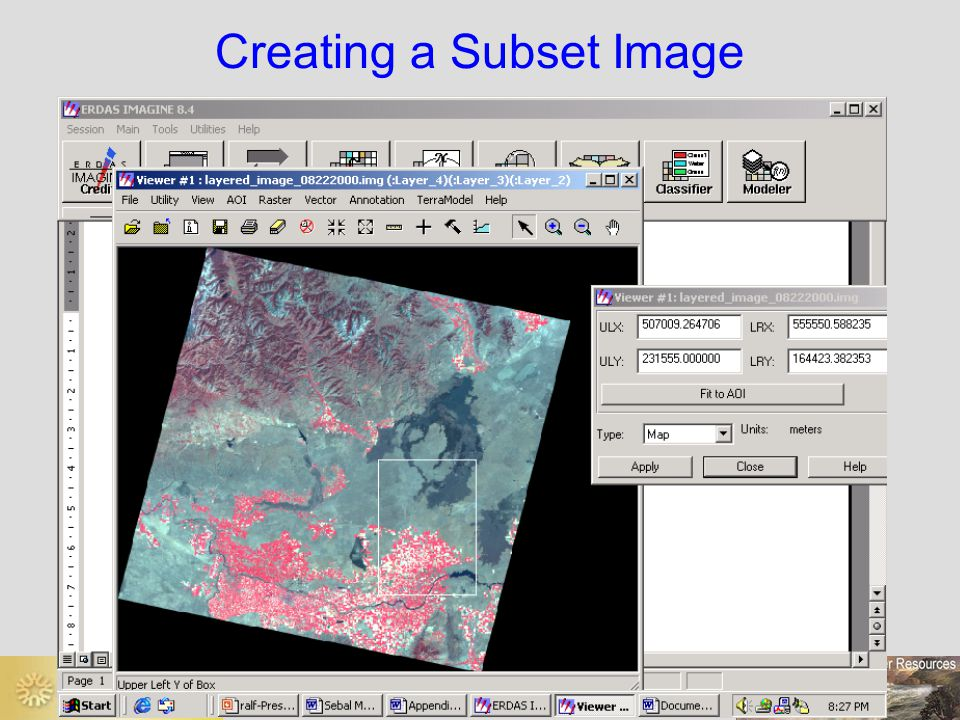 Creating a Subset Image