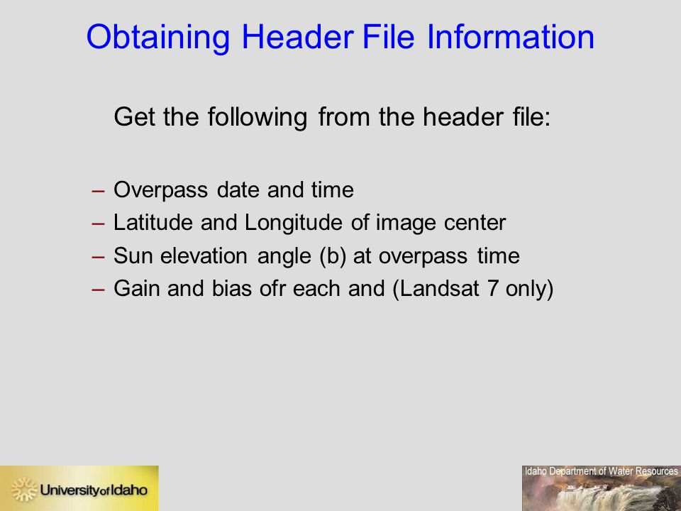 Obtaining Header File Information