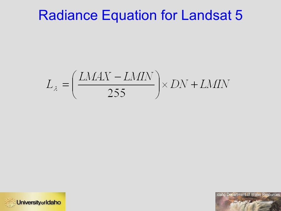 Radiance Equation for Landsat 5