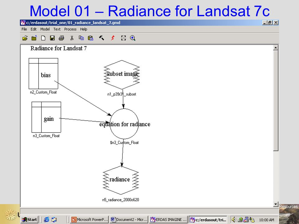 Model 01 – Radiance for Landsat 7c