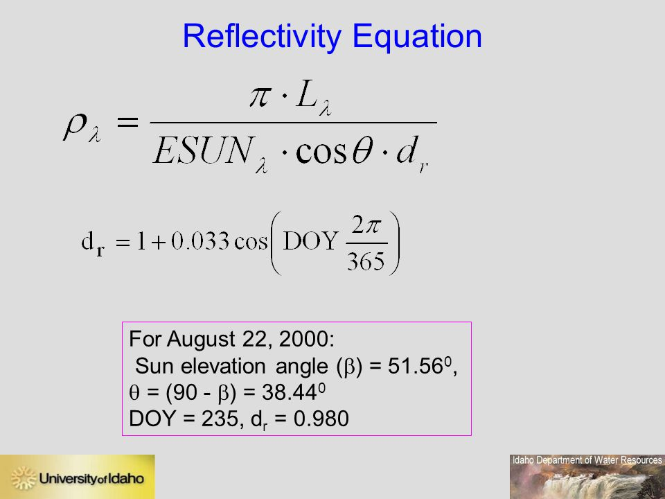 Reflectivity Equation