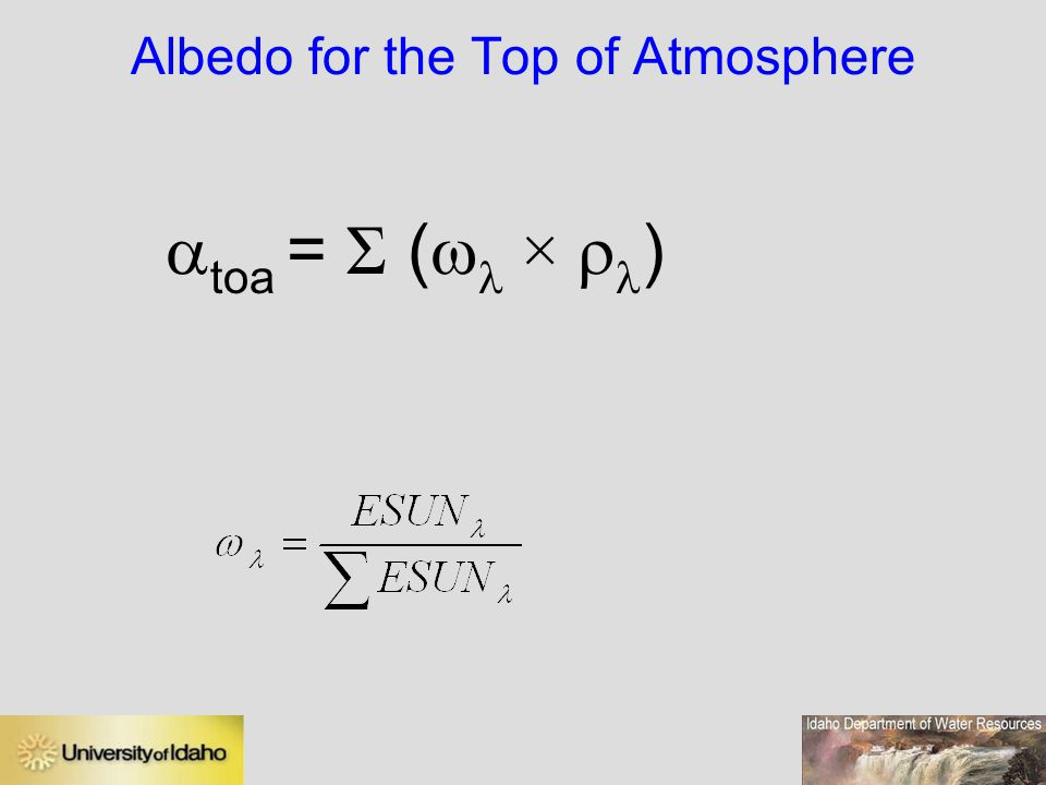 Albedo for the Top of Atmosphere