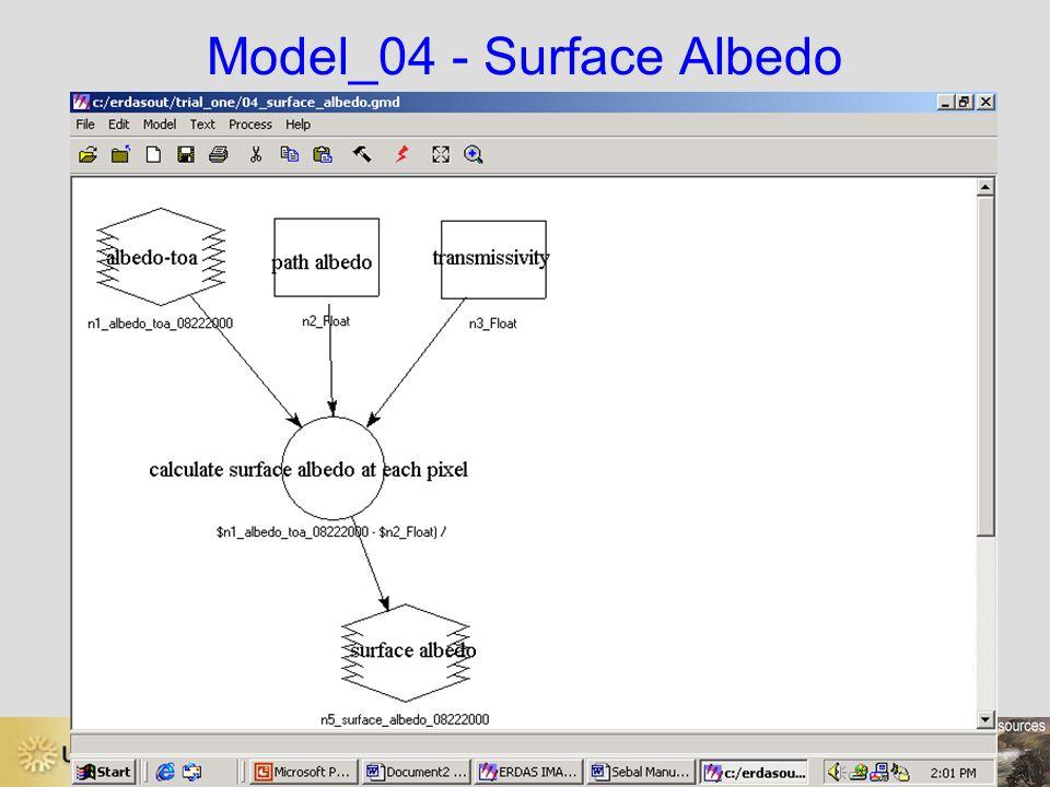 Model_04 - Surface Albedo