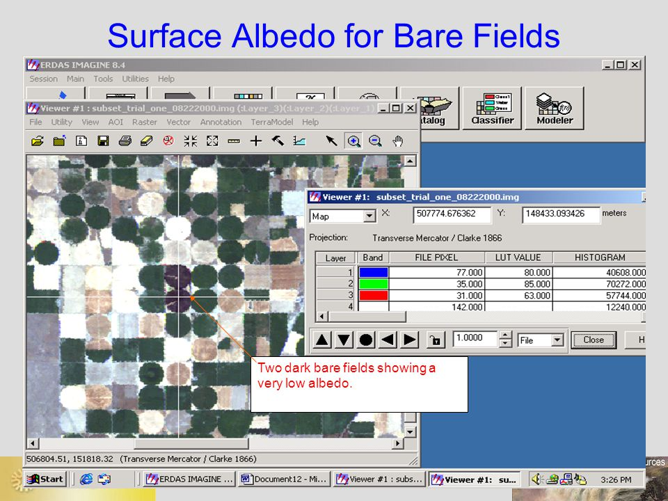 Surface Albedo for Bare Fields