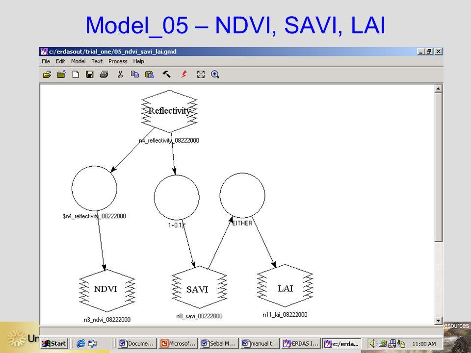 Model_05 – NDVI, SAVI, LAI