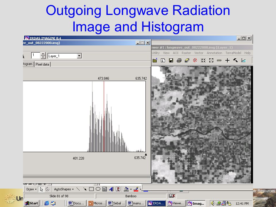 Outgoing Longwave Radiation Image and Histogram