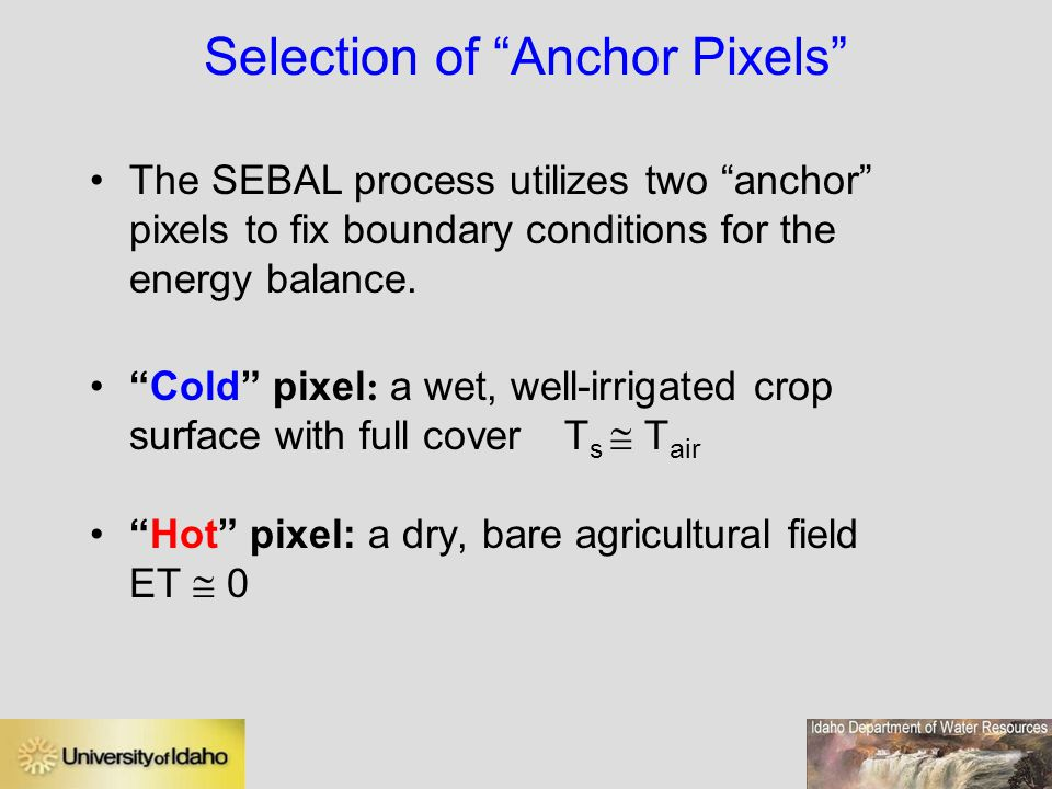 Selection of Anchor Pixels