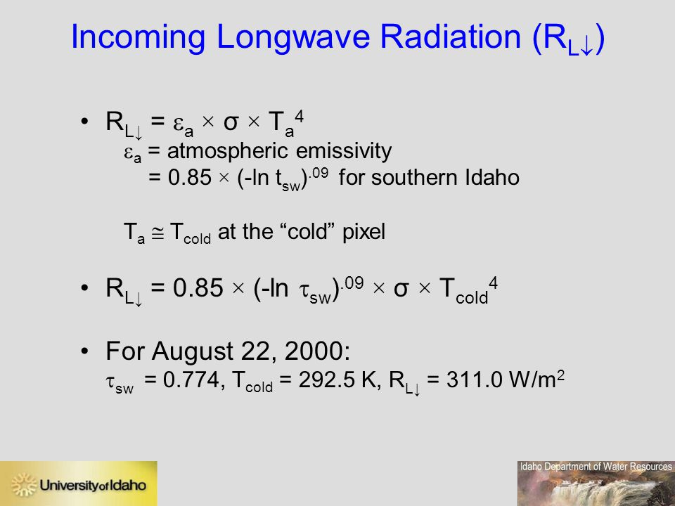 Incoming Longwave Radiation (RL)