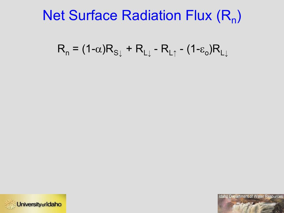 Net Surface Radiation Flux (Rn)