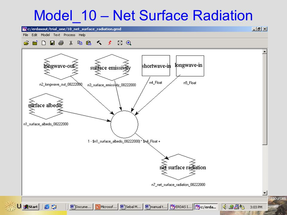 Model_10 – Net Surface Radiation
