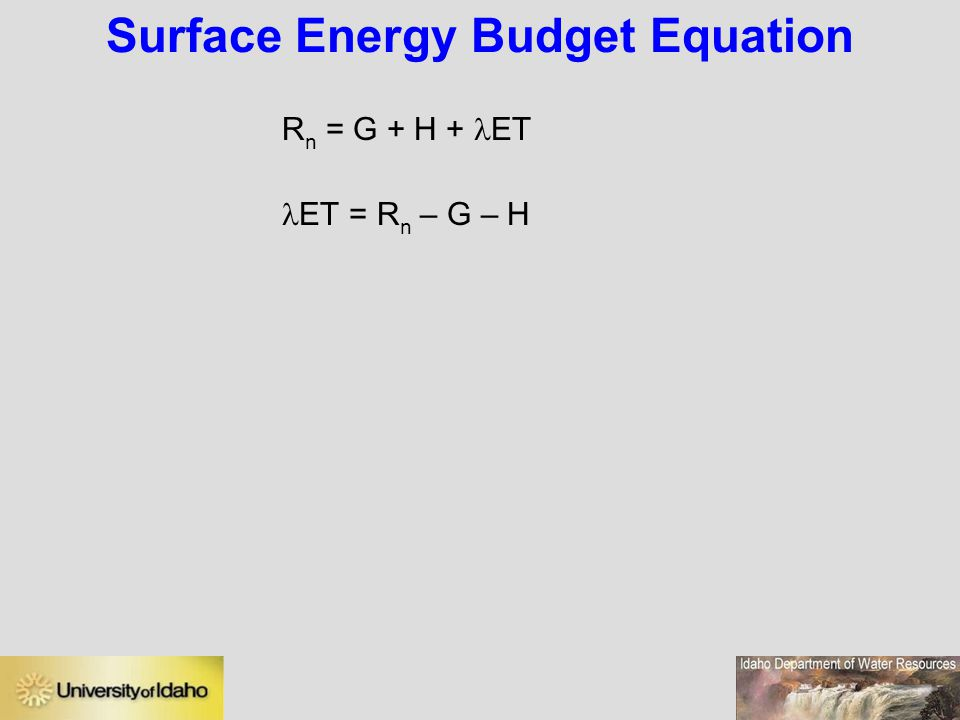 Surface Energy Budget Equation