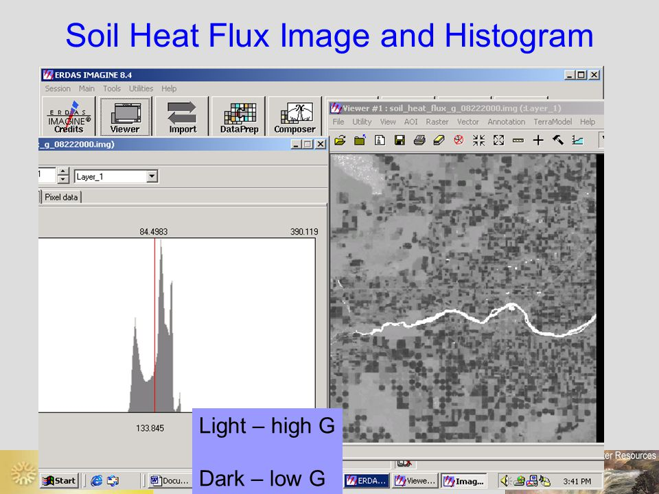 Soil Heat Flux Image and Histogram