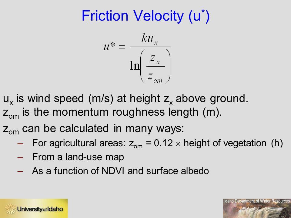 Friction Velocity (u*)