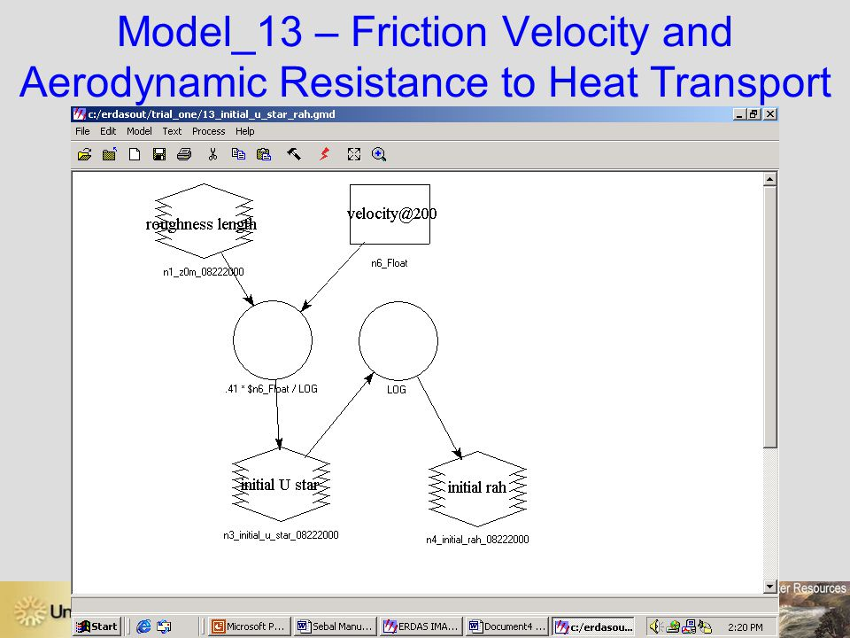 Model_13 – Friction Velocity and Aerodynamic Resistance to Heat Transport