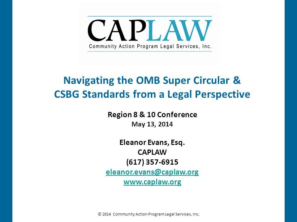 Navigating the OMB Super Circular &