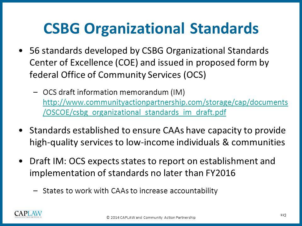 CSBG Organizational Standards