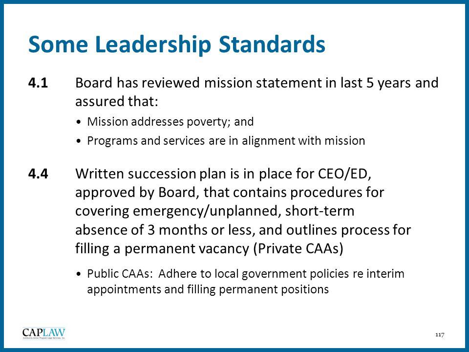 Some Leadership Standards