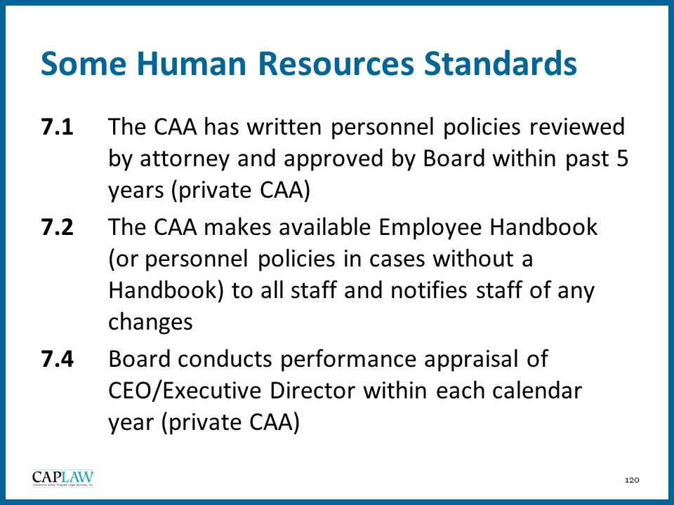 Some Human Resources Standards